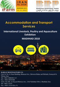 Accommodation and Transport Services  International Livestock,Poultry and quacultureExhibition MASHHAD 2018
